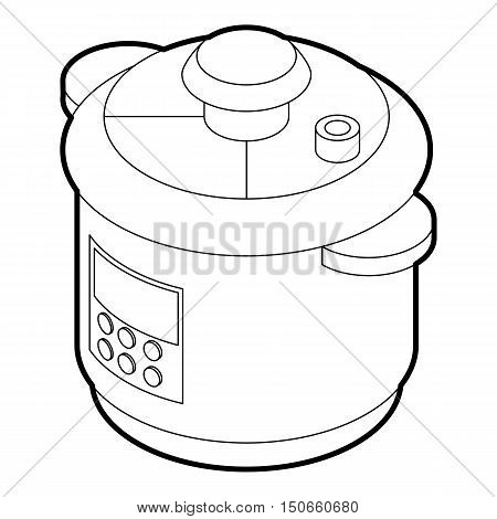 Multi cooker icon in outline style on a white background vector illustration