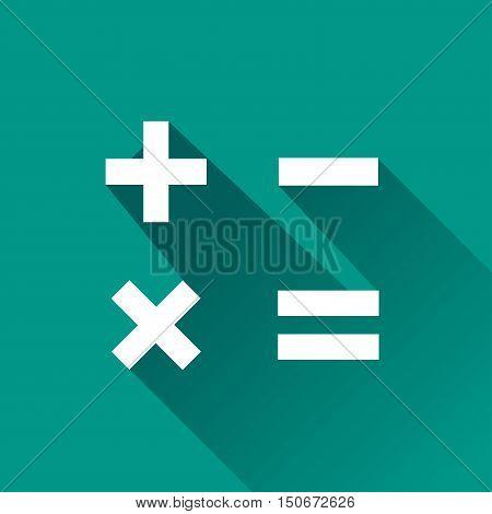 Illustration of mathematics icon design with shadow
