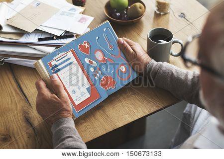 Health Healthcare Wellness Book Concept