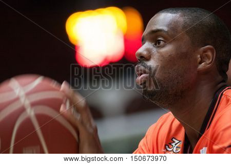 VALENCIA, SPAIN - OCTOBER 6th: Will Thomas during spanish league match between Valencia Basket and Real Madrid at Fonteta Stadium on October 6, 2016 in Valencia, Spain
