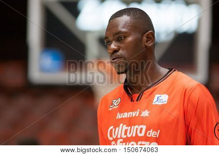 VALENCIA, SPAIN - OCTOBER 6th: Roamin Sato during spanish league match between Valencia Basket and Real Madrid at Fonteta Stadium on October 6, 2016 in Valencia, Spain