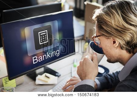 Business Banking Online Payment Financial Transaction Concept