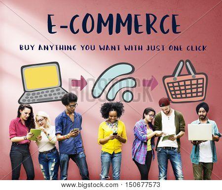 Online Shopping Web Shop E-shopping Concept