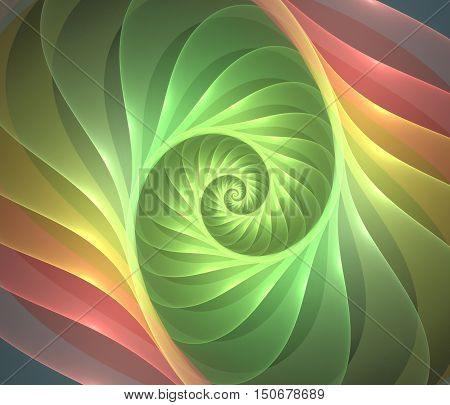 Abstract fractal light  background computer generated image