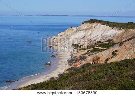 Aquinnah Martha's Vineyard massachusetts cliffs overlooking the ocean