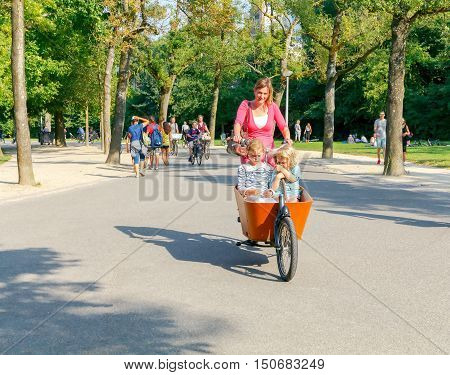Amsterdam. Netherlands - August 27, 2016: Amsterdam, the city with the largest number of bicycles among residents. About a million bicycles.