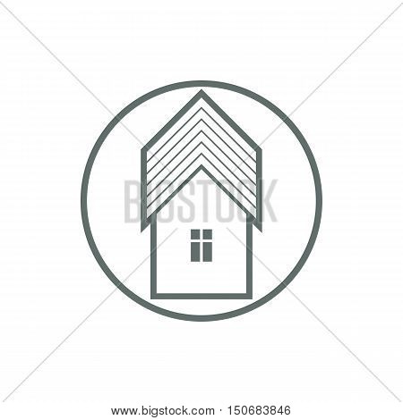 Home symbol estate agency emblem can be used in advertising and web design. Property simple vector icon isolated on white.