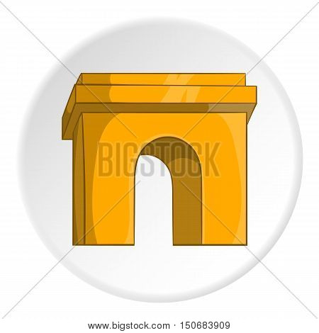 Arch icon in cartoon style isolated on white circle background. Construction and interiors symbol vector illustration