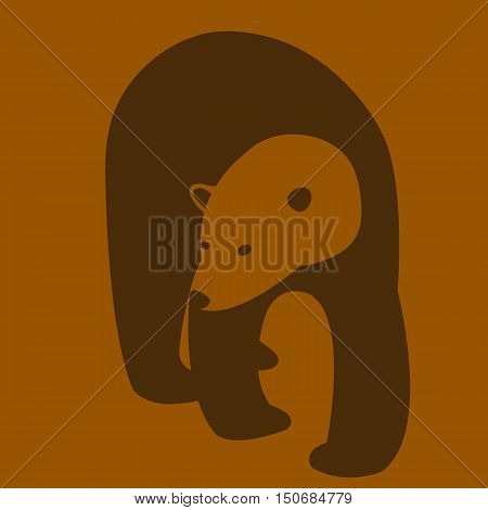 Polar bear adult vector illustration style Flat
