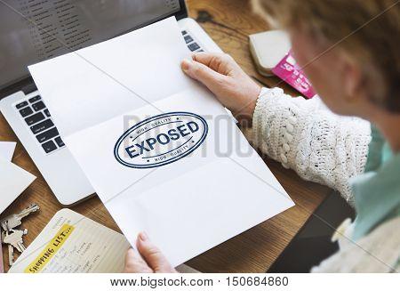 Exposed Disclosed Declarative Indicative Relating Concept