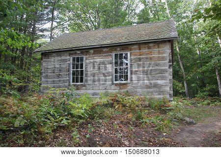 A one room school house log cabin in Sleeping Bear Dunes National Lakeshore, Michigan