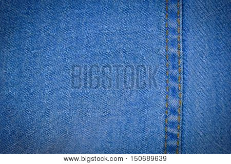 Blue denim jeans texture or denim jeans background with old tone
