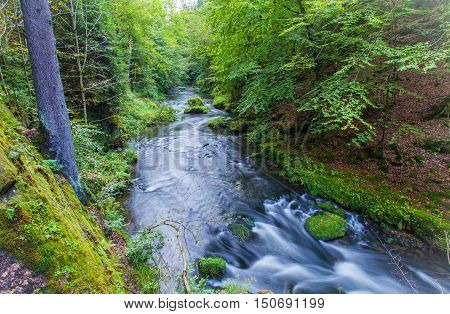 Canyon Scenery And Trails Kamnitz Gorge In The Czech Switzerland