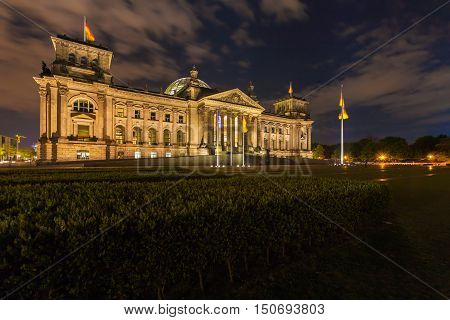 The Building Of The German Parliament The Reichstag In Berlin, Germany