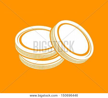 coins, currency, money cash, business. illustration vector. sign, icon
