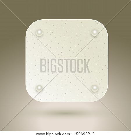 Blank square buttons. Empty icon. Vector eps10 illustration