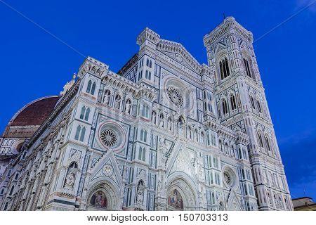 Santa Maria Del Fiore Church In Florence, Italy