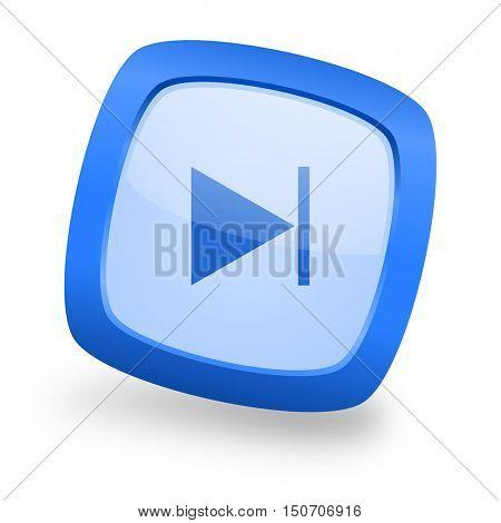 next blue glossy web design icon