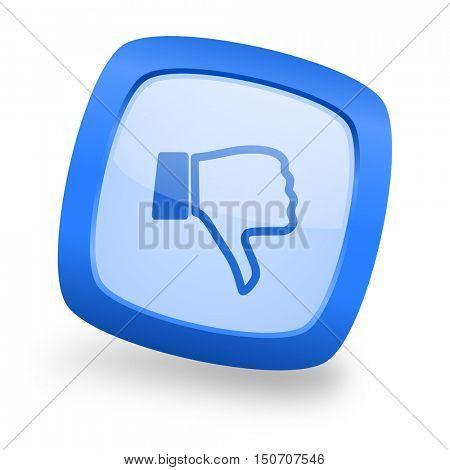 dislike blue glossy web design icon