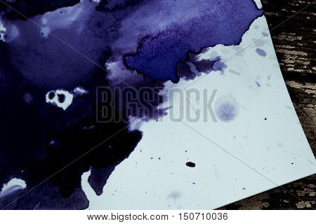 Dark spreads ink stains on a white background. Abstract background
