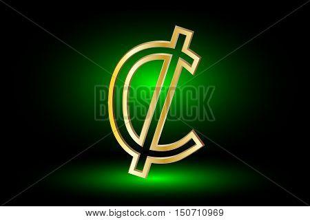 Cent vector icon , Cent , Cent symbol ,