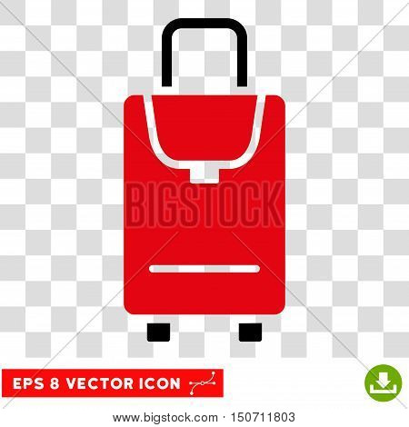 Vector Carryon EPS vector pictogram. Illustration style is flat iconic bicolor intensive red and black symbol on a transparent background.