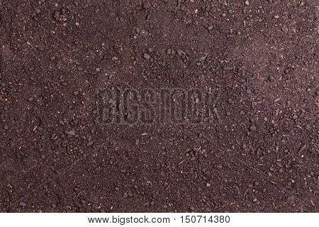 Full Frame Of Bare Soil For Nature Background