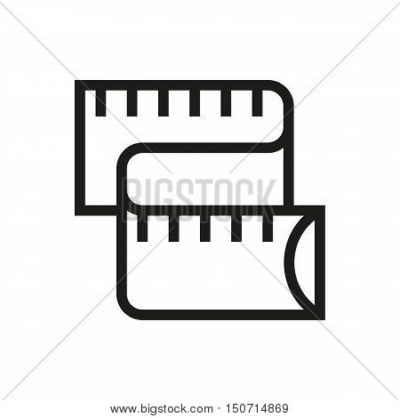 meter measuring icon on white background Created For Mobile Infographics Web Decor Print Products Applications. Icon isolated. Vector illustration