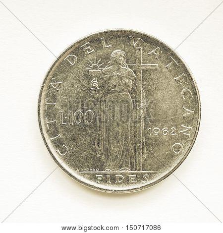 Vintage Vatican Lira Coin