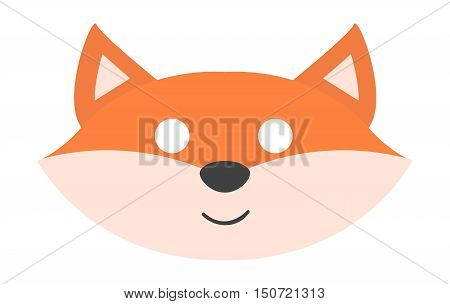 Animals carnival mask vector festival decoration masquerade. Party costume cute cartoon animal carnival mask. Festival head decoration isolated celebration animal carnival mask. fox