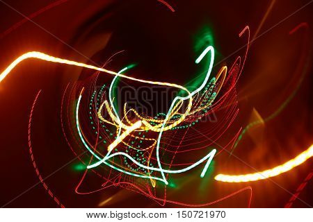 Abstract Motion Blurred Light