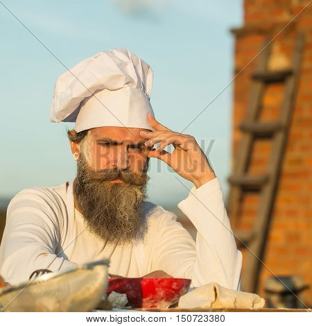 Bearded Man Cook Chef