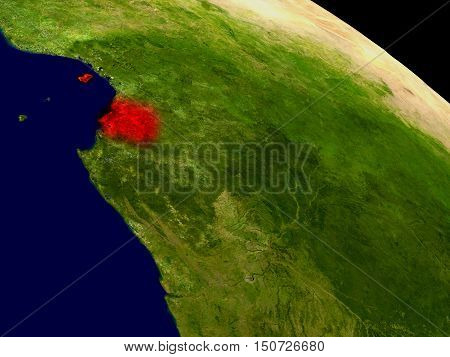 Equatorial Guinea From Space