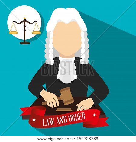 Law and legal justice graphic design, vector illustration