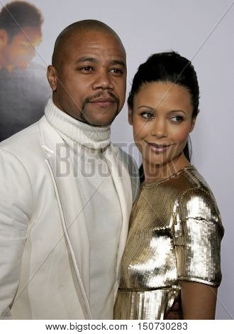Cuba Gooding Jr. and Thandie Newton at the Los Angeles premiere of 'The Pursuit of Happyness' held at the Mann Village Theater in Westwood, USA on December 7, 2006.