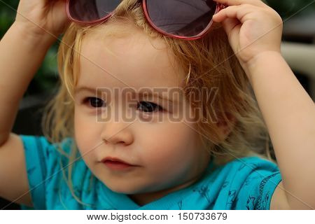 Funny Baby Boy With Sunglasses