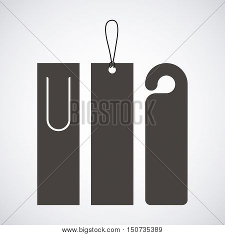 Bookmark label tag icon. Guidebook decoration reading and literature  theme. Isolated and silhouette design. Vector illustration