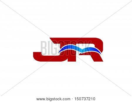 JR Logo. Vector Graphic Branding Letter Element