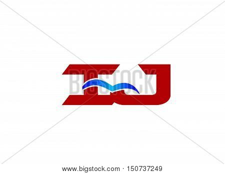 Letter iJ Logo design vector template abstract