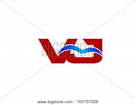 Letter VJ Logo design vector template abstract