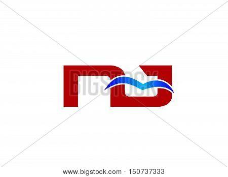 Letter NJ Logo design vector template abstract