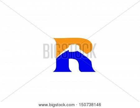 Letter R logo icon design template elements. Vector color sign