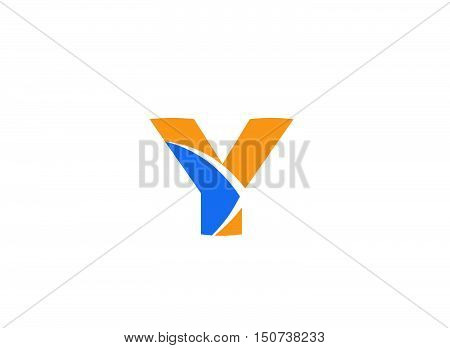 Letter y logo icon design template elements . Vector illustration of abstract icons