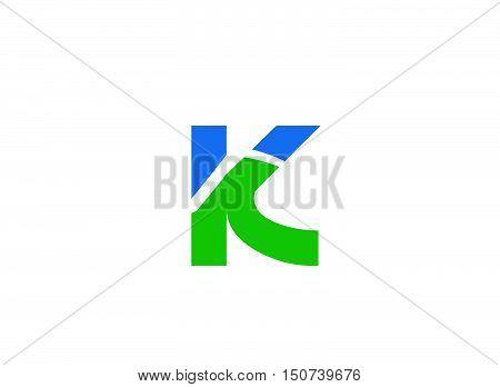Letter K logo design design vector template
