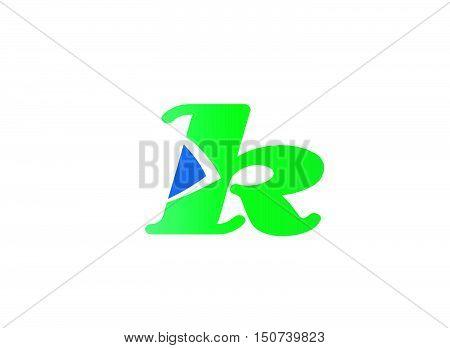 Alphabet icon - k design vector template