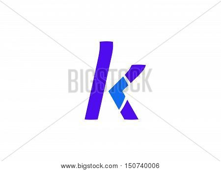 Abstract letter K logo icon design .Number logo icon design template elements