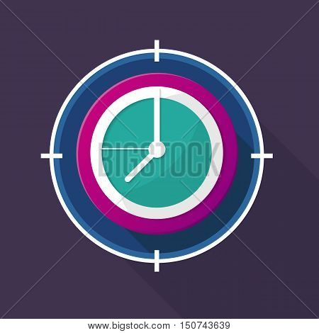 Vector Watch icon color design on background