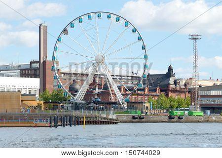 HELSINKI, FINLAND - AUGUST 28, 2016: Ferris wheel