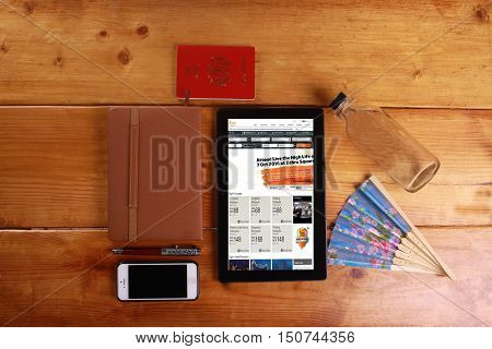 Travel And Concept Isolated In Wooden Background