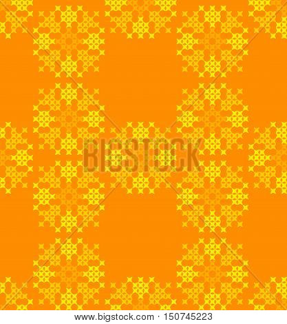 Seamless embroidered texture of abstract flat patterns, dandelions, cross-stitch, ornament for cloth